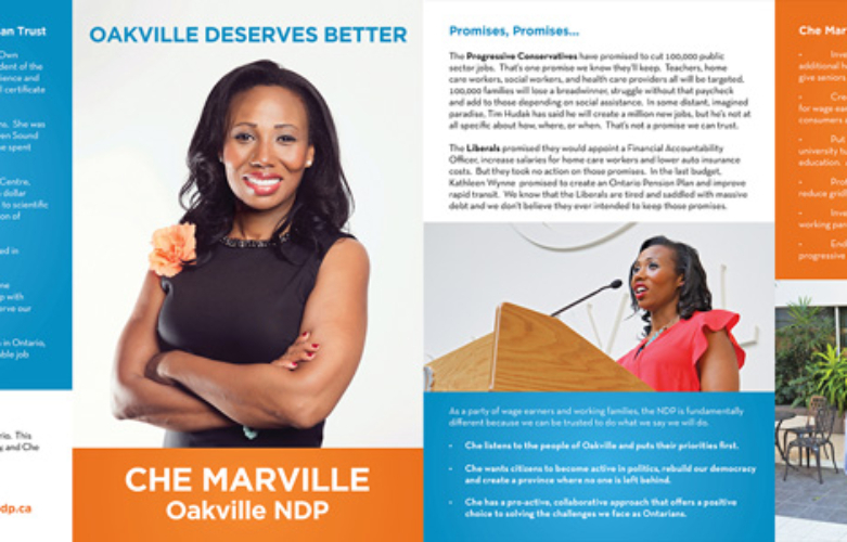 Read Che Marville's Action Plan for Working People in Oakville