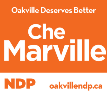 Che Marville NDP Signs Arrive in Oakville