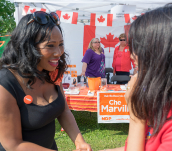 Oakville NDP Day of Action on August 8th